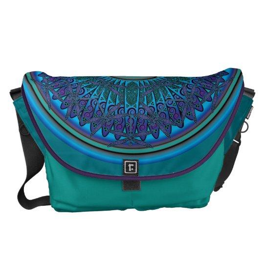 Celtic Dragonfly Mandala Messenger Bag