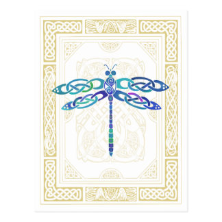 Celtic Dragonfly Postcard
