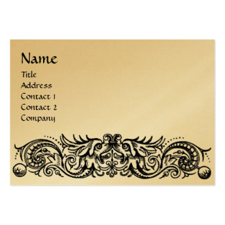CELTIC DRAGONS MONOGRAM gold metallic paper Pack Of Chubby Business Cards