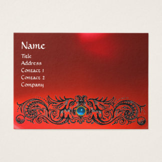 CELTIC DRAGONS MONOGRAM RUBY red blue sapphire Business Card