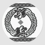 Celtic Dragons Round Stickers