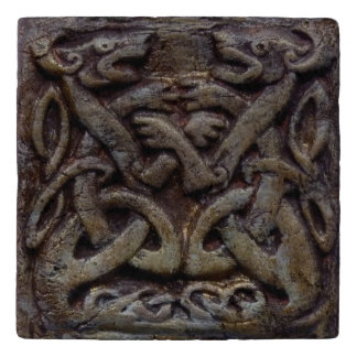 Celtic dragons trivet