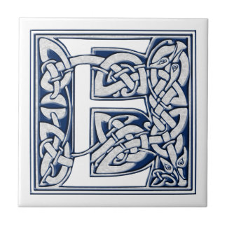 Celtic E Monogram Small Square Tile