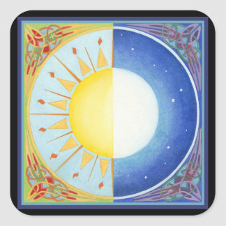 Celtic Equinox Sun and Moon Stickers