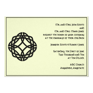 Celtic Eternity Knot in Black and Ivory Wedding 13 Cm X 18 Cm Invitation Card