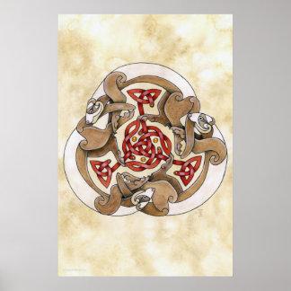 Celtic Ferret Triskel Poster