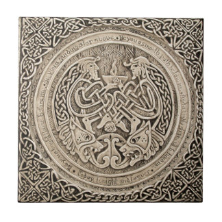 CELTIC FLAME VINTAGE ART TILE
