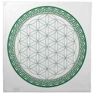 Celtic Flower of Life Abundance Crystal Grid Napkin