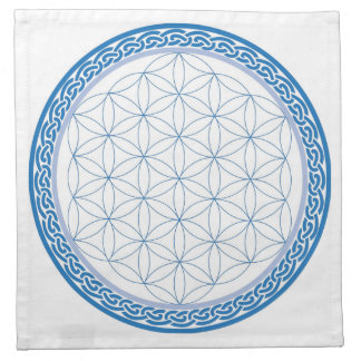 Celtic Flower of Life for Communication Napkin