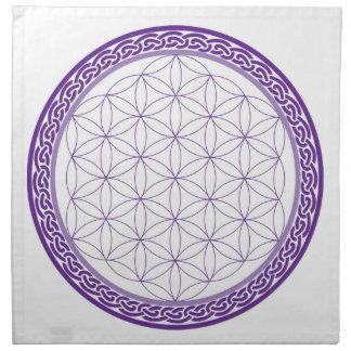 Celtic Flower of Life grid for Psychic Work Napkin