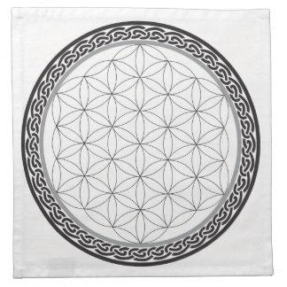Celtic Flower of Life Grid Napkin