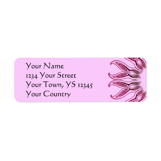 Celtic Flower Return Address Label