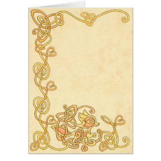 Celtic Fox Greeting Card