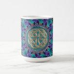 Celtic Fractal Mandala Basic White Mug