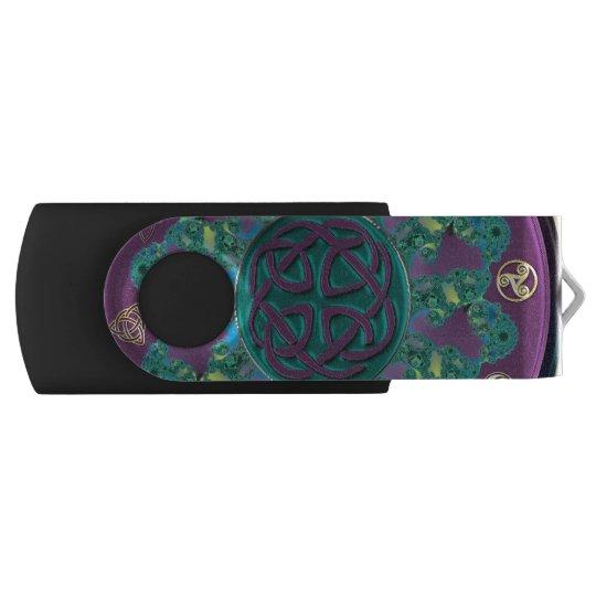 Celtic Fractal Mandala Swivel USB 2.0 Flash Drive