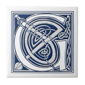 Celtic G Monogram Small Square Tile