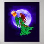 Celtic Goddess Cerridwen Poster