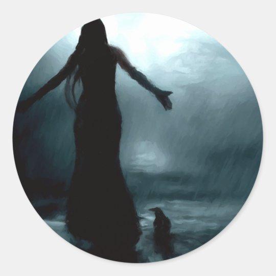 celtic goddess morrigan crow raven rain water classic