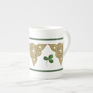 Celtic Gold Knotwork Bone China Mugs