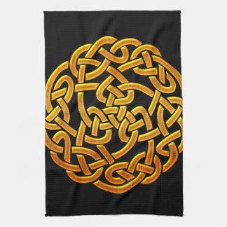 Celtic Golden D1 Irish Celtic Design Tea Towel