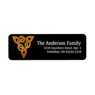 Celtic Golden D3 Irish Return Address Labels