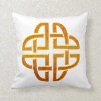 Celtic Golden D5 Irish Celtic Design Throw Pillow