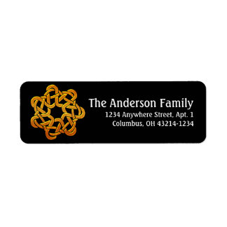 Celtic Golden D6 Irish Return Address Labels