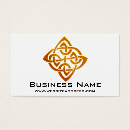 Celtic Golden Symbol 2 Elegant Business Cards