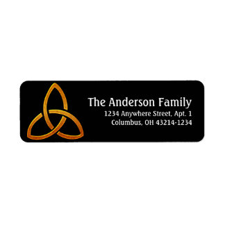 Celtic Golden Trinity Return Address Labels