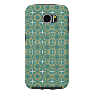 Celtic Green and Gold Shamrock Knot Samsung Galaxy S6 Cases