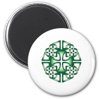 celtic green cross magnet