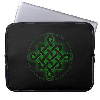 celtic green knot mystic viking symbol spiritual p laptop sleeve