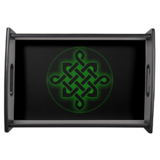 celtic green knot mystic viking symbol spiritual p serving tray
