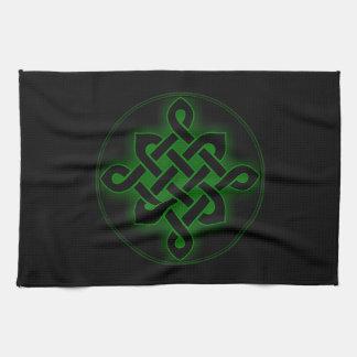celtic green knot mystic viking symbol spiritual p tea towel