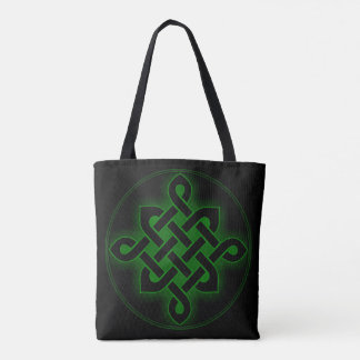 celtic green knot mystic viking symbol spiritual p tote bag