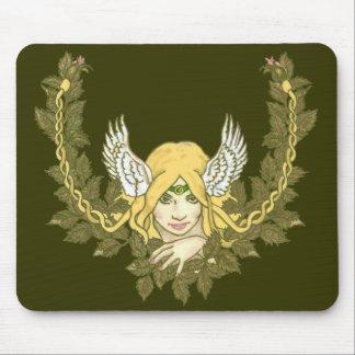 Celtic Green Lady Wreath Mouse Mats