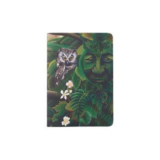 Celtic Green Man Passport Holder