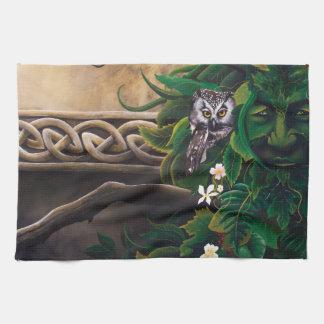 Celtic Green Man Tea Towel