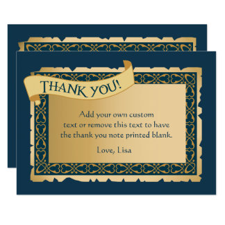 Celtic Green   Thank You Cards 9 Cm X 13 Cm Invitation Card