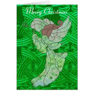 Celtic Guardian Angel in Stained Glass Card