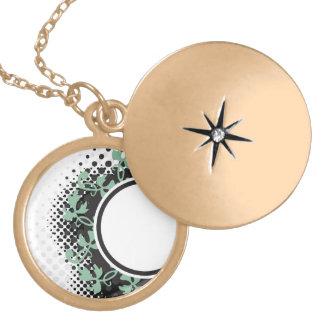 Celtic Halftone Layout Round Locket Necklace