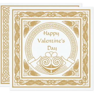 Celtic Happy Valentine's Day with Irish Claddagh Card