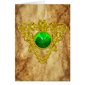 CELTIC HEART / An Old Irish Blessing Parchment Greeting Card