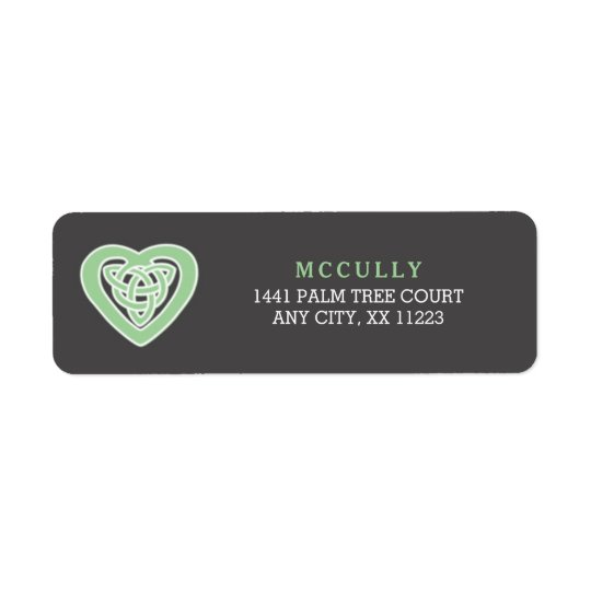 Celtic Heart Irish wedding return address 3991 Return Address Label