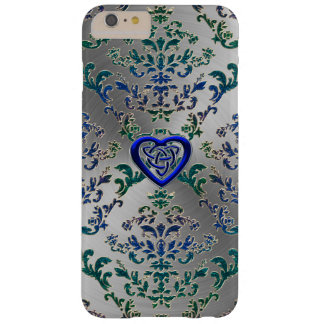 Celtic Heart Knot On Damask and Metal Case