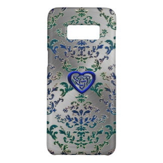 Celtic Heart Knot On Damask and Metal Case-Mate Samsung Galaxy S8 Case