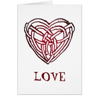 Celtic Heart, LOVE! John 3:16 Christmas Card