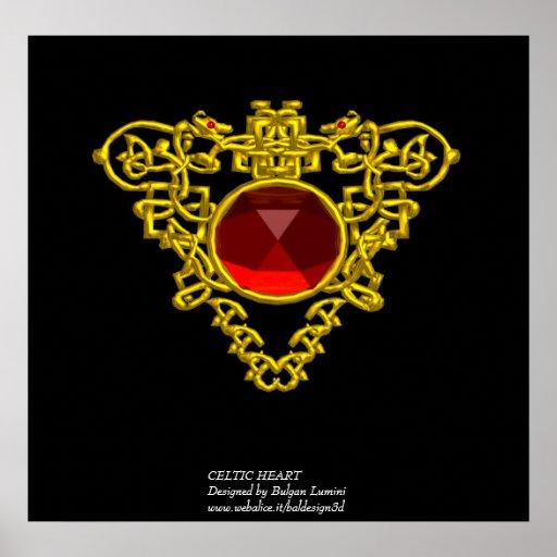 CELTIC HEART POSTER