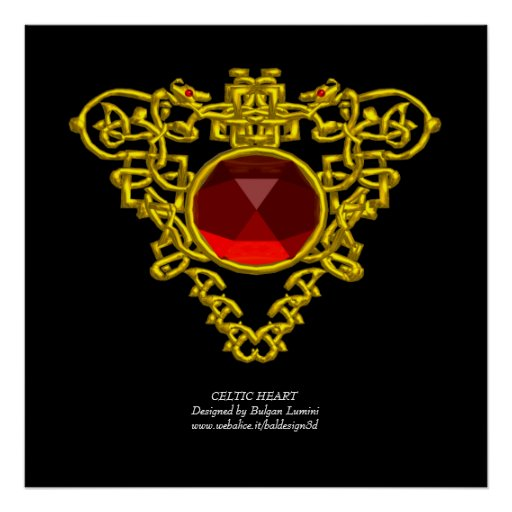 CELTIC HEART POSTERS