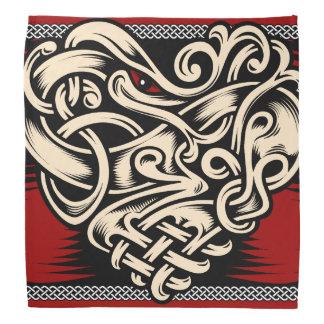Celtic Heart red black white Bandanas